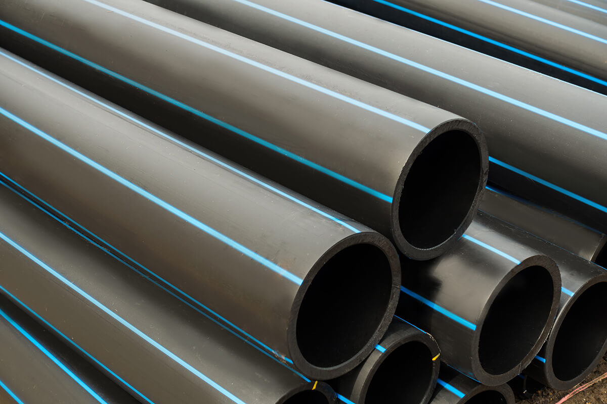PVC Pressure Pipe - Polyethylene Pipe – Blue line Size: 20mm – 315mm, ranging from PN 4 – 25 Coils and straight lengths available Alternative colour stripes/plain black available